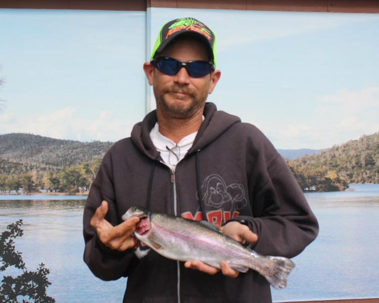 Collins lake the trout outranked the bass this week for Matthews fishing report
