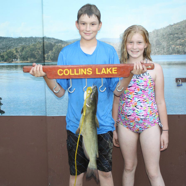 Collins lake little kids catch lots of big fish for Collins lake fishing report