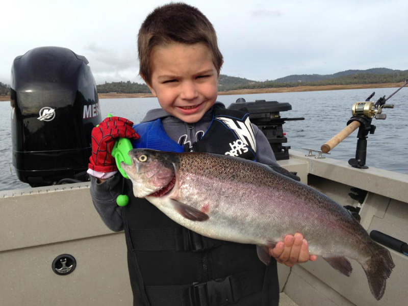 Collins lake 2 little boys catch big trout this week for Fishing worms near me