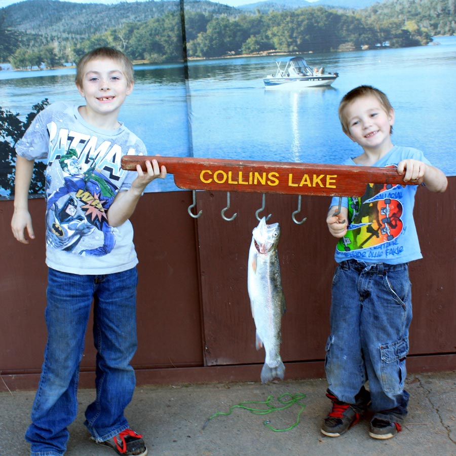 Collins lake today 1st private trout plant of the year for Lake gregory fishing report