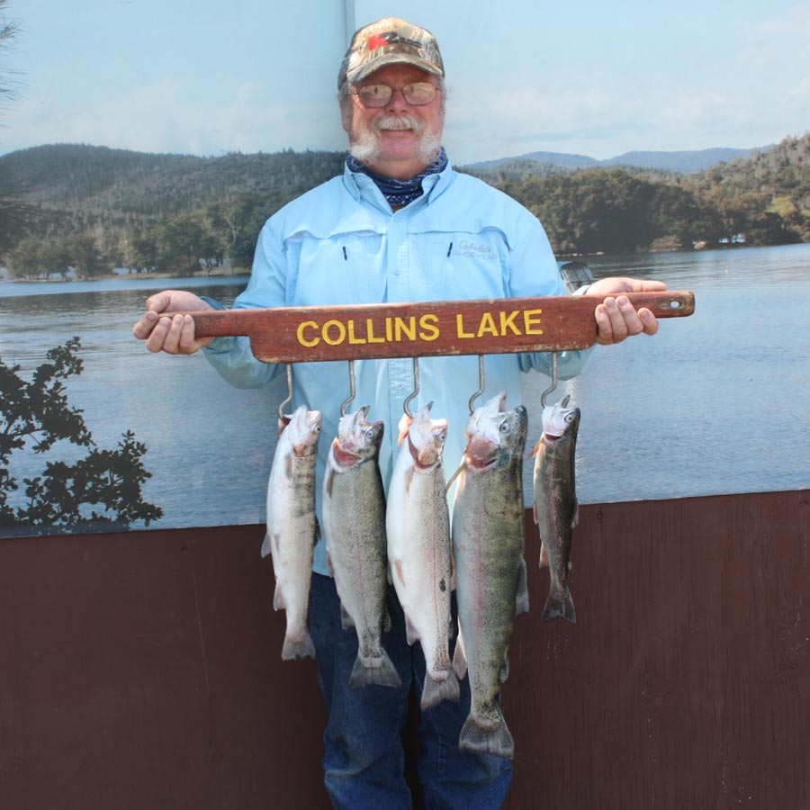 Collins lake two 11 pounders caught this week for Collins lake fishing report