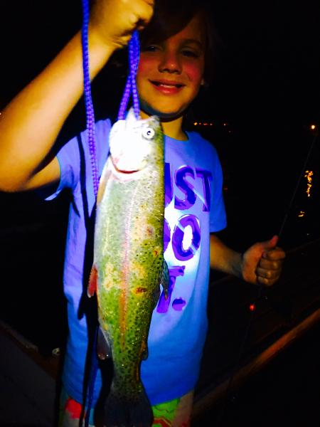 Joshua Delgado caught 3lb trout