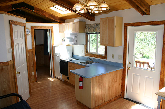 Kitchen in Large Cabin